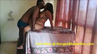 fucking sexy bengali bhabhi on a dinning table after indian lunch