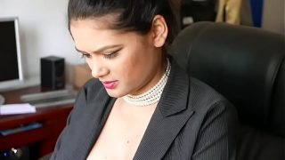 Indian Girl Showing Boobs In Office